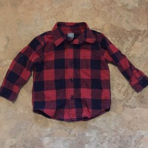 Baby gap 18-24m plaid button down